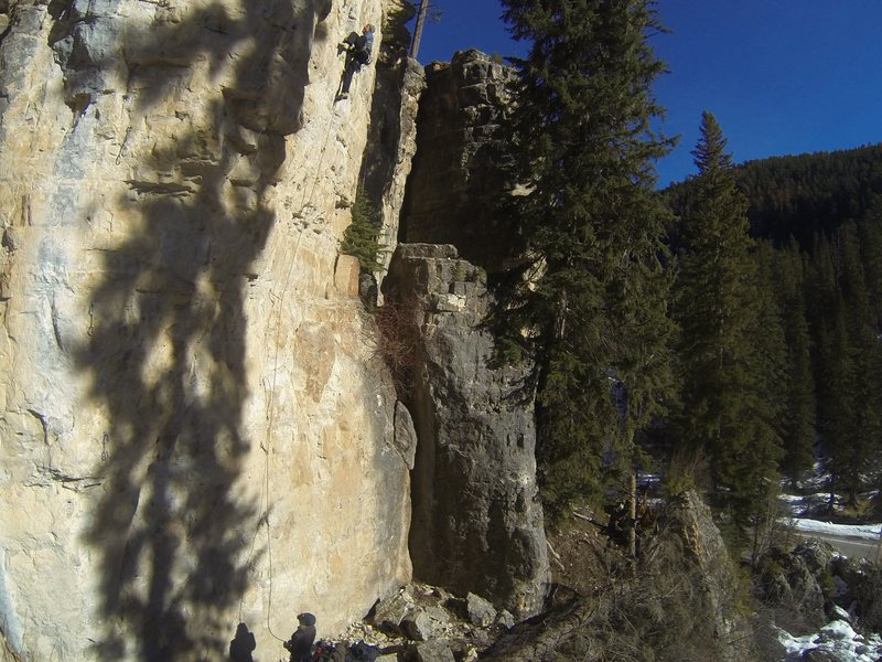 Rock Climbing Photo: Classic, cold weather climbing at the Ice Box.  Th...