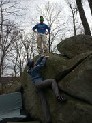 """Rock Climbing Photo: """"Come on, why aren't you up yet?"""""""