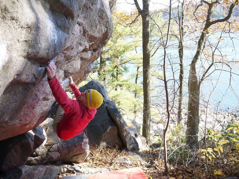 Rock Climbing Photo: Super fun line.  Photo Ian.