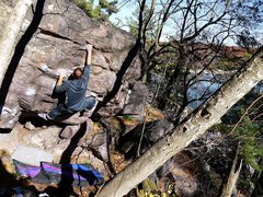 Rock Climbing Photo: Satermo doing Peaches.