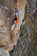 "Rock Climbing Photo: On my first run, gunning to the ""gravity amp&..."