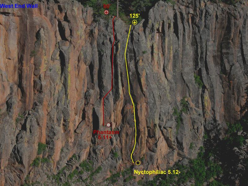 Rock Climbing Photo: Nyctophiliac photo topo.