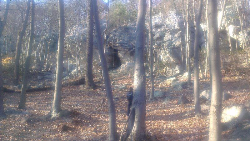Rock Climbing Photo: This photo is taken from near the picnic area.  Th...