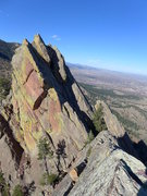 Rock Climbing Photo: Northern summit and hand traverse that starts the ...
