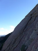 Rock Climbing Photo: View of the slab from the E Face.