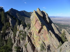 Rock Climbing Photo: View of the north summit (route top out) from the ...