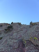 Rock Climbing Photo: Direct start below the entrance ramp to the origin...