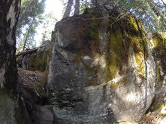 Rock Climbing Photo: start low with left hand on a decent crimp side pu...