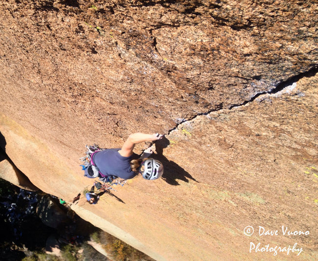 Climber: Carolyn Davidson.