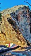 Rock Climbing Photo: Sunny Day Syd problem.