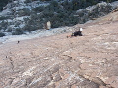Rock Climbing Photo: Fred on Prince of Darkness. Fred, let me know if y...