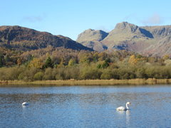 Rock Climbing Photo: Elterwater and the Langdale Pikes, Langdale Valley...