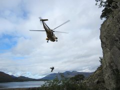 Rock Climbing Photo: And in UK you get free helicopter rescue! Injured ...