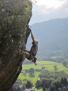 Rock Climbing Photo: Climbers on The Bludgeon, Shepherds Crag, Borrowda...