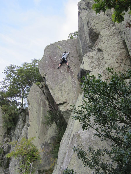 Andy on Devils Wedge, Borrowdale Valley, NW England