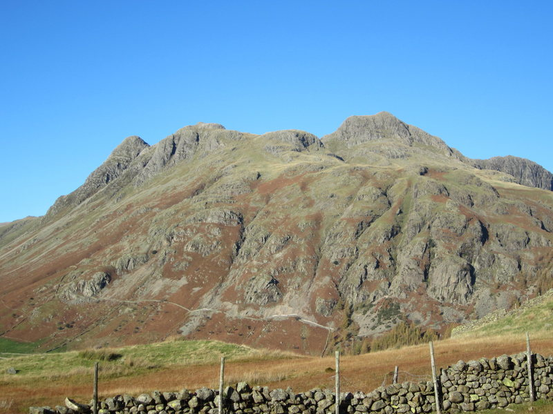 Some of the crags in the Langdale Valley. Gimmer and Raven Crag