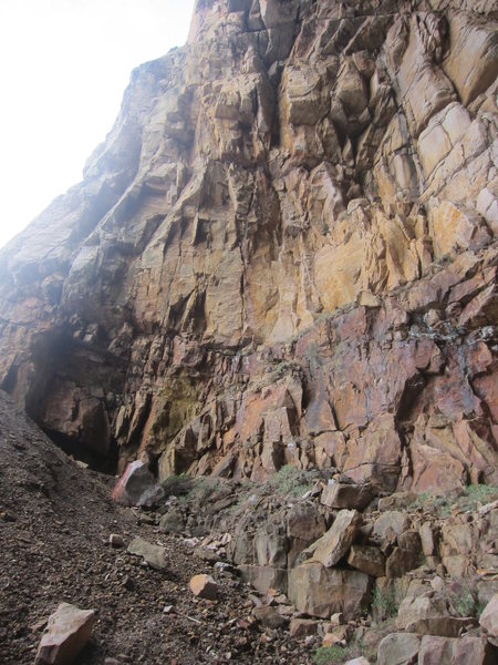 Left inside cave