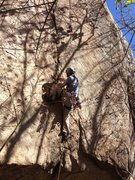 Rock Climbing Photo: Sustained even after pulling out of the roof.  Pho...