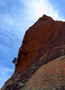 Rock Climbing Photo: Moving through the crux. caughtinside on the final...