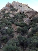 Rock Climbing Photo: Last part of the approach. More than one option, b...