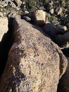 Rock Climbing Photo: Looking down from top. Notice Terry beginning desc...