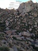 Rock Climbing Photo: Description of approach, route and rappels