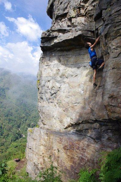 "Near Merida, Venezuela. ""El Chorotal"" Obviously not me climbing."