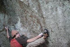 Rock Climbing Photo: John Maher getting close.