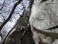 Rock Climbing Photo: One slightly less graceful way to do the start