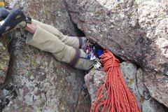 Rock Climbing Photo: Fat man's frenzy.
