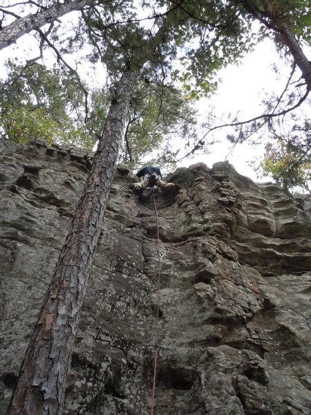 Doc at top of climb