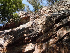 Rock Climbing Photo: Upper portion of route