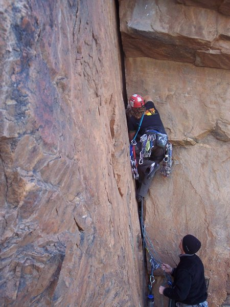Rock Climbing Photo: starting P2