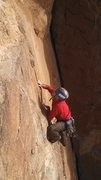 Rock Climbing Photo: upper section of Miracle Man