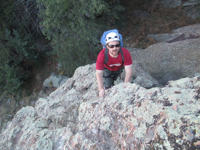 Rock Climbing Photo: Above the cave.