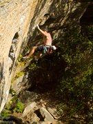 Rock Climbing Photo: The Bullfighter fights hard.