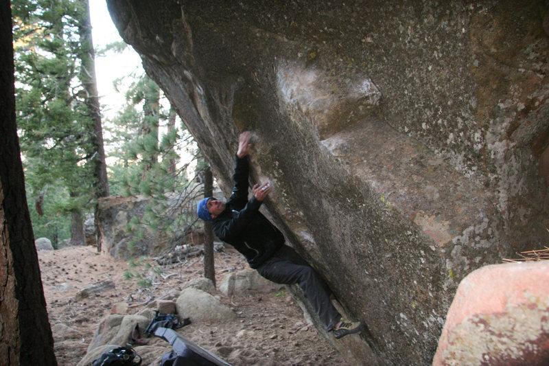 Rock Climbing Photo: Ray on Spicy Beaver v10
