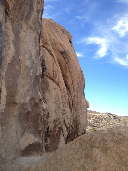 Rock Climbing Photo: Me on Tossed Green 5.10a