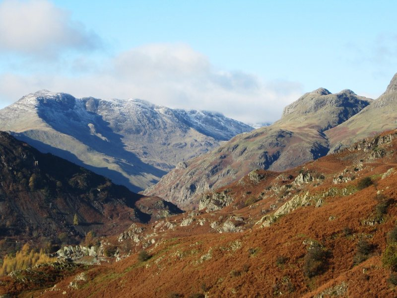 Bowfell Mt., above the Langdale Valley