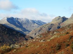 Rock Climbing Photo: Bowfell Mt., above the Langdale Valley