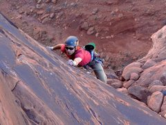 Rock Climbing Photo: On the final, face-climbing pitch to the summit. N...