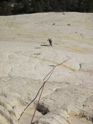 Rock Climbing Photo: Looking down from the top of the pitch 1 belay.  I...
