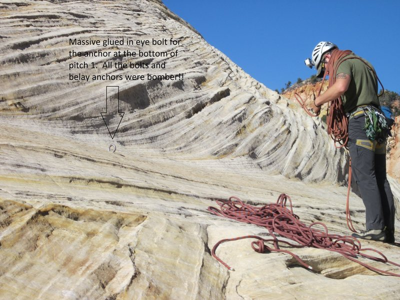 Rock Climbing Photo: The base of the climb and a good picture of the ma...