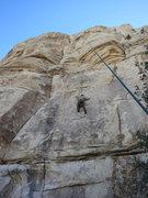 Rock Climbing Photo: Ryan at the crux of Joyride.
