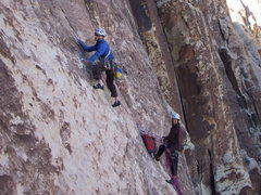 Rock Climbing Photo: Snapped a photo of these gents while on rappel aft...