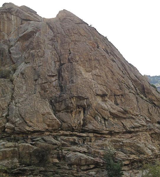 "Rock Climbing Photo: The northeast-facing ""Play Pen""."