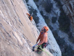 Rock Climbing Photo: That girl from Wyoming following on pitch 6ish.