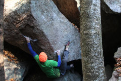 Rock Climbing Photo: matt down low... this was my favorite part of the ...
