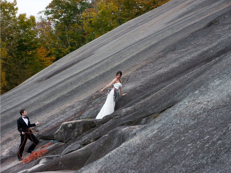 Rock Climbing Photo: Nice day for a white wedding
