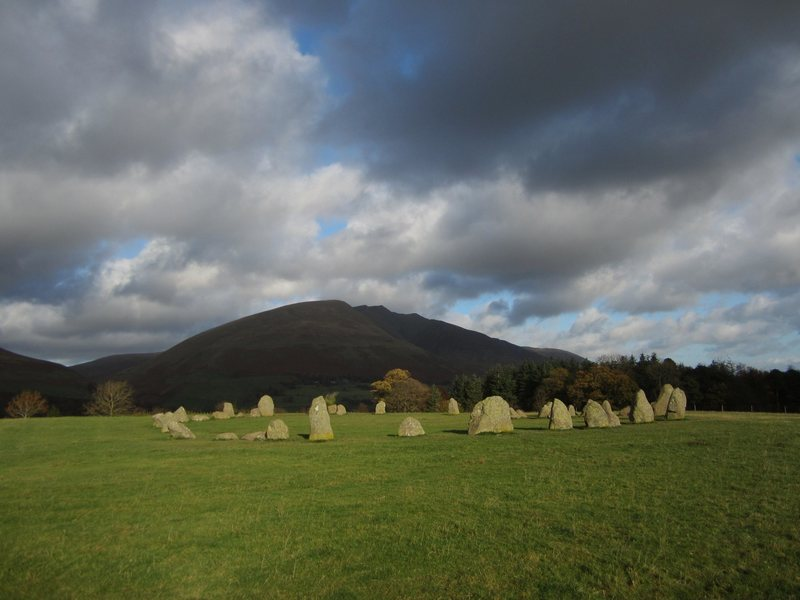 The Stone Circle 2000/3000 BC with Blencathra, Keswick, NW England